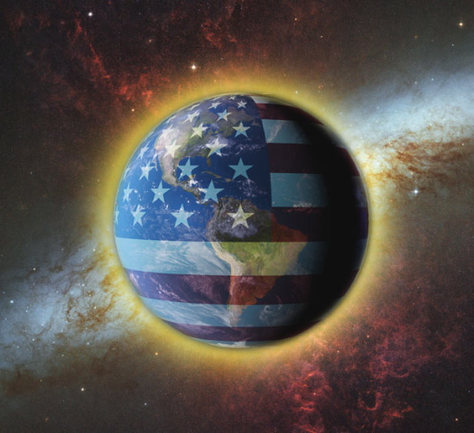 Photo illustrating the influence of the United States in the world