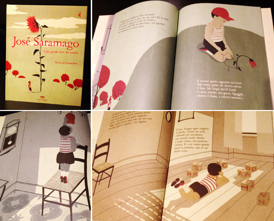 ABOVE: All illustrations from Il più grande fiore del mondo by Jose Saramago (Feltrinelli Kids)