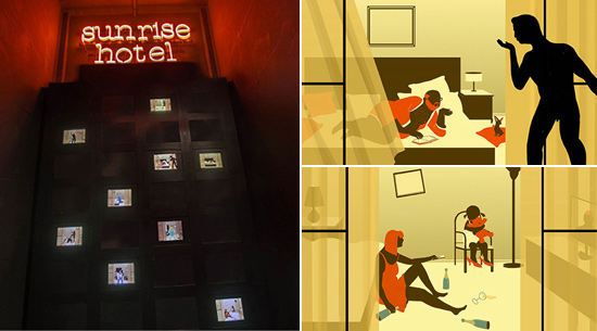 ABOVE: Artwork created for Sunrise Hotel, part of the Suspension of Disbelief exhibition Wunderkammern Gallery
