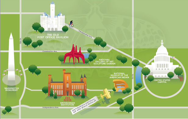 Illustrator Teresanne Cossetta Russell In Her Own Words – Tourist Map of Washington DC
