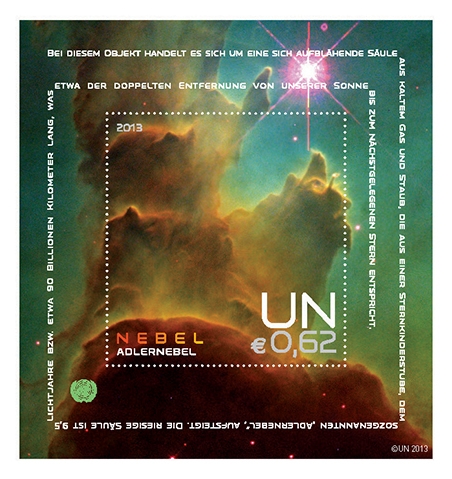 UNPA Space Souvenir Sheets 2013 Vienna