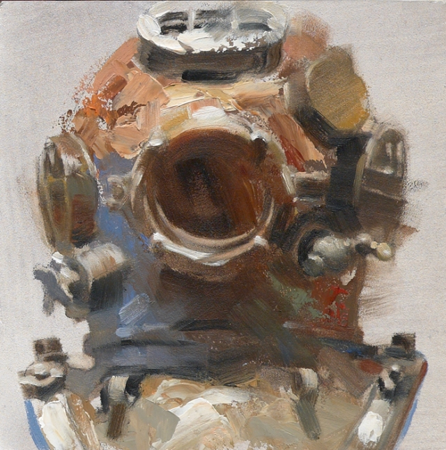 """Diver - Helmets Series""; Art Directed and Illustrated by Gregory Manchess"