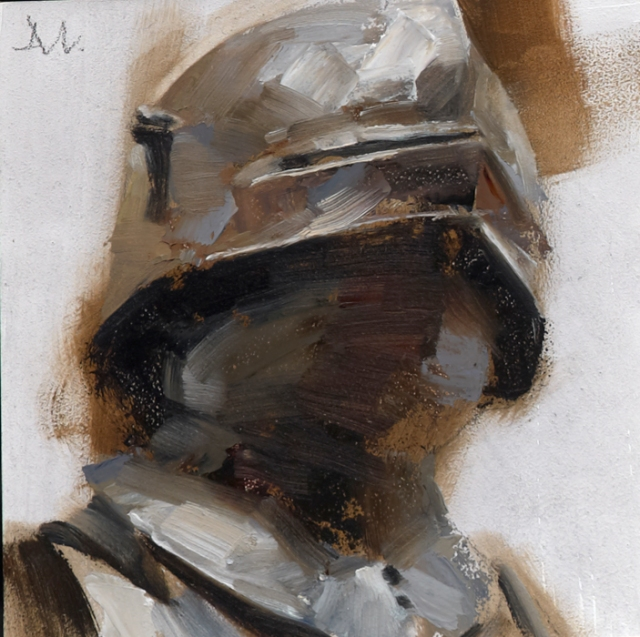"""Knight/Brown Collar - Helmets"", Gallery Series; Art Directed and Illustrated by Gregory Manchess"