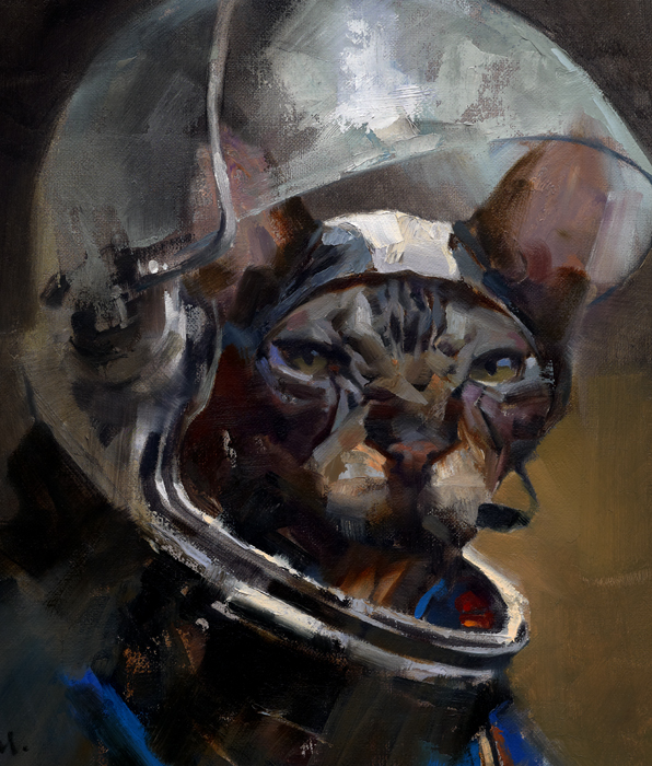 """Major Tom"" Gallery Piece; Art Directed and Illustrated by Gregory Manchess"