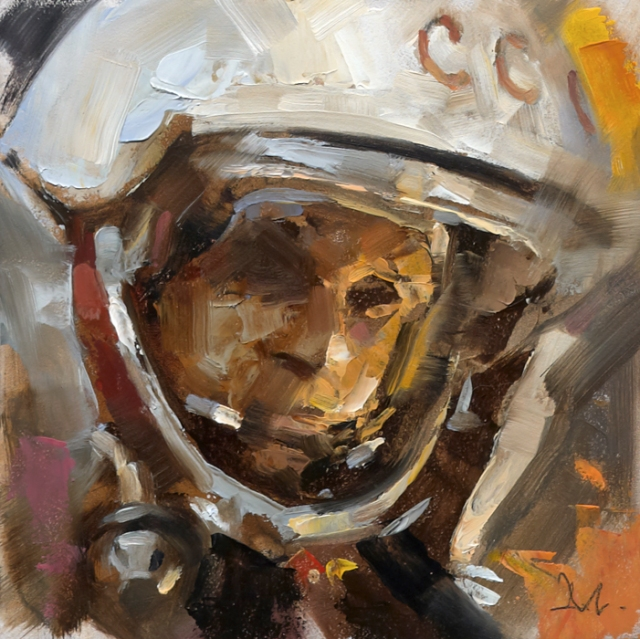 """Helmets"", Gallery Series; Art Directed and Illustrated by Gregory Manchess"