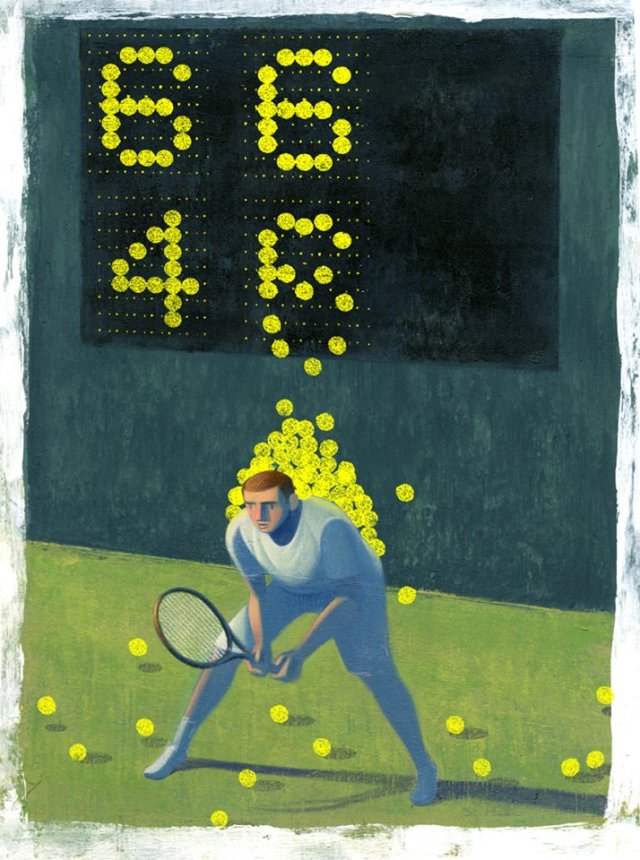 """The Weight of the Scoreboard"" Illustration by Jon Krause"