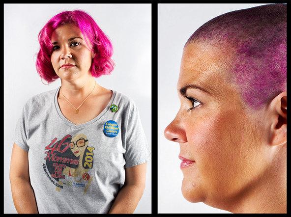 Allison Smith, shaving for Jackson. © Ali Smith