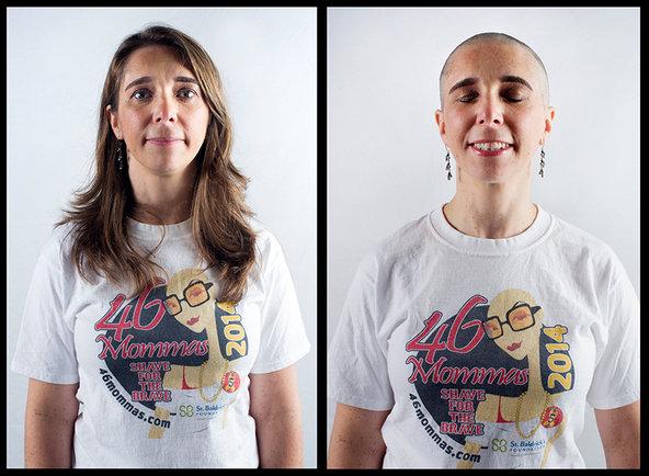 Lisa Giguere, shaving for Hailey. © Ali Smith