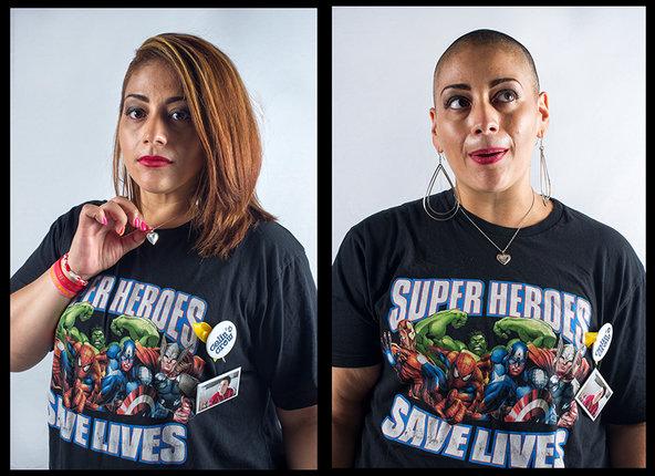 YvetteVelez Rivera, shaving for Nayelis.© Ali Smith