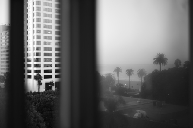 View from hotel room. Santa Monica.  ©Simon Puschmann