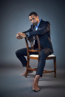 ©Robert Wilson - Portrait of Rio Ferdinand, ex-England and Man.Utd footballer- For The Times Magazine