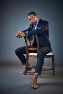 ©Robert Wilson - Portrait of Rio Ferdinand, ex-England and Man.Utd footballer- For The Times Magazine