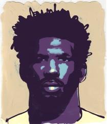 ©Jon Krause - Portrait of Joel Embiid - NBA Basketball Player