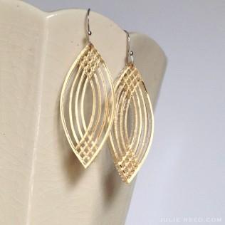 ©Julie Reed - Acrylic Oval Earrings