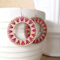 """©Julie Reed - """"Stitched"""" Earrings"""