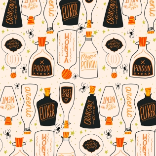 """Potion Bottles"" Illustrator ©Ilana Griffo"